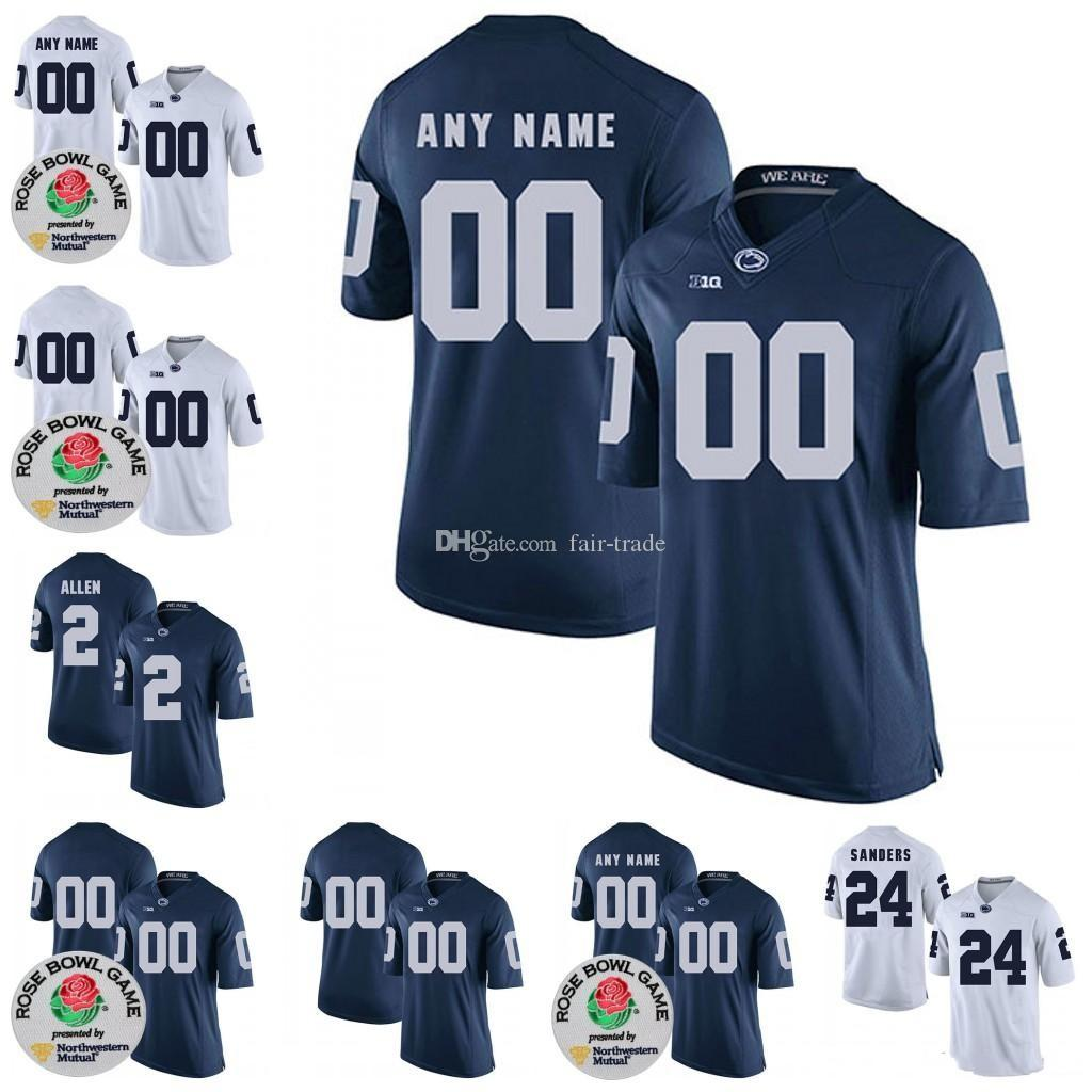low priced e4fee 72978 Custom Penn State Nittany Lions Football Jersey JACK HAM Curt Warner Lenny  Moore Christian Hackenberg Mike Munchak Christian Campbell Jersey