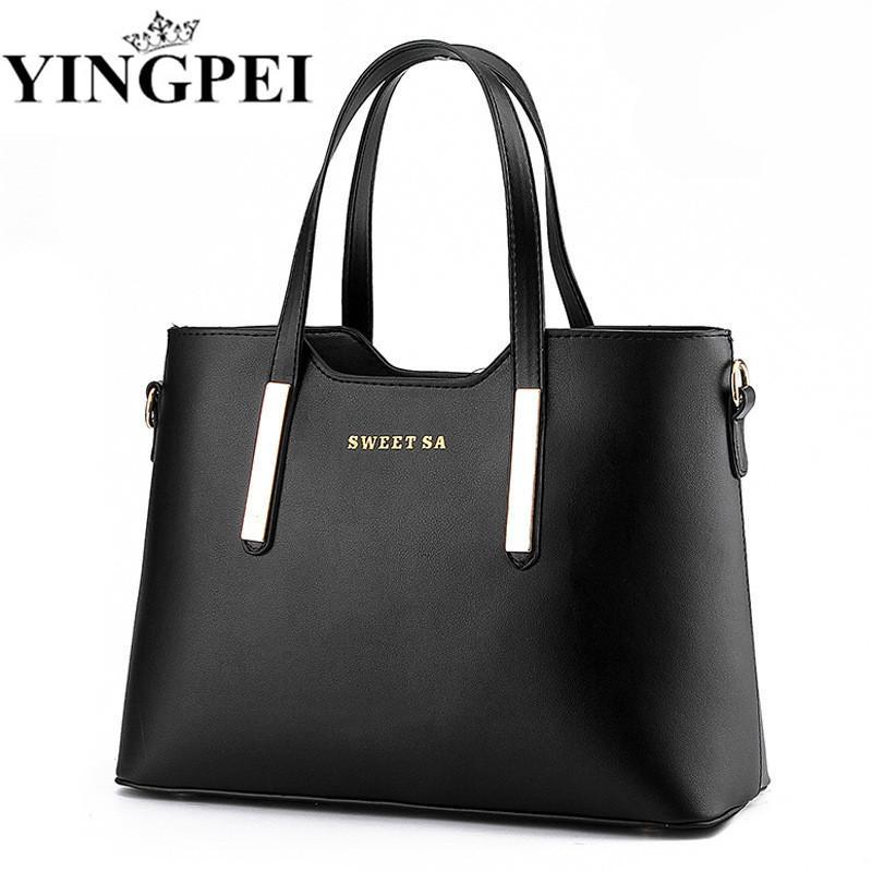 b12aec97d8487 Women Messenger Bags Ladies Tote Small Shoulder Bag Woman Brand Leather  Handbag Crossbody Bag With Scarf Lock Designer Bolsas Jo Totes Discount  Handbags ...