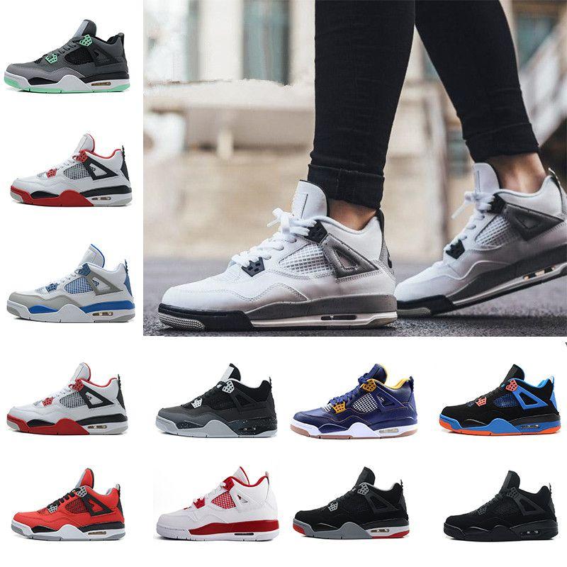 5919c3ef66c90b 2018 New 4 4s Mens Basketball Shoes Motosports Blue Oreo Eminem White  Cement Pure Money Toro Bravo Bred Alternate 89 Sport Sneakers Designer  Cheap Sneakers ...