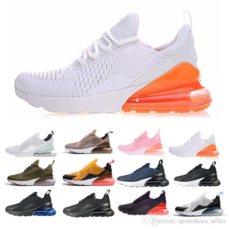 new products 0804d 899e2 2018 New 270 Sneakers Wholesale High Quality Mens Womens Flair Triple Black  27C Trainer Sports Running Shoes Sole 2018 Comfort 36 45 Running Shoes Women  ...