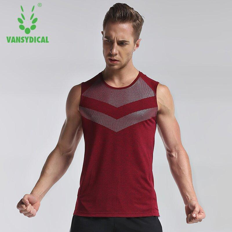 ccb2ef5f6 Mens Running Vest Compress Sleeveless T Shirt Spandex Fitness Athletic Gym  Running Sports Shirts Basketball Gym Tank Tops