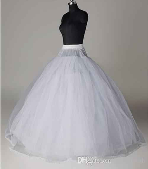 a7cda07989 Top Sale 8 Layers NO Hoop Wedding Petticoat Wedding Accessories Petticoats  Crinoline Bridal Accessories Ball Gown Lace Edge Petticoats Online with ...
