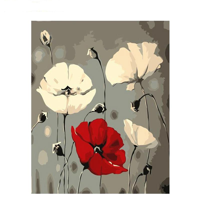 2019 Abstract Flowers Diy Painting By Number Kit Modern Wall Art