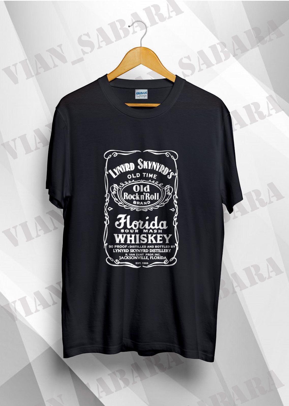 42760c2f Lynyrd Skynyrd Florida Sour Mash Whiskey Vintage T Shirt Reprint Tee Shirt  A Day Shop T Shirt Online From Beidhgate03, $11.68| DHgate.Com