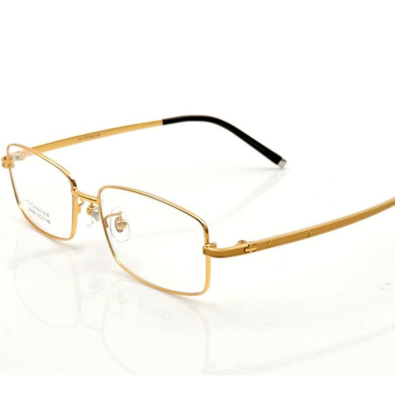 dc9ffe94a33 High Quality Men Glasses Frames Pure Titanium Full Frame ...