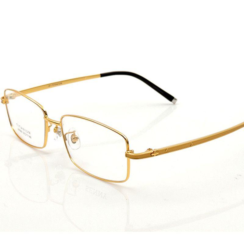 4f4946cfc45e8 Compre Homens De Alta Qualidade Armações De Óculos Pure Titanium Full Frame  Óculos De Prescrição Titanium Homens Óculos De Armação Óptica 986 De  Kuanbao, ...
