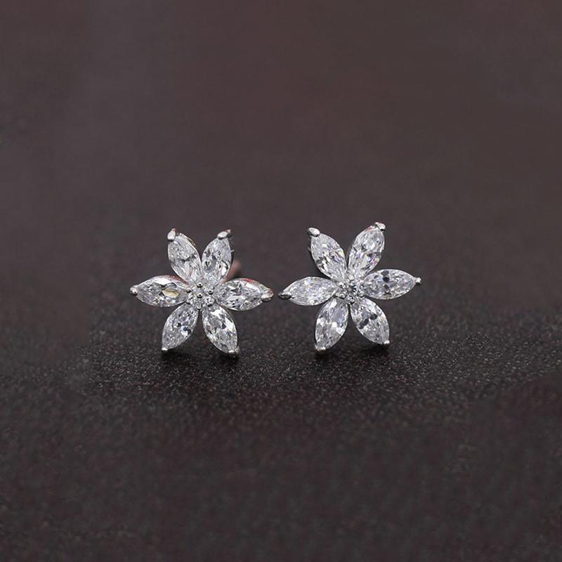 ebdeaf880d 2019 Hot Sale Cubic Zirconia CZ Simple Small Flower Stud Earrings For Women  Chain Tassel Long Earring Girls Birthday Gift From Fujinplea, $20.05 |  DHgate.