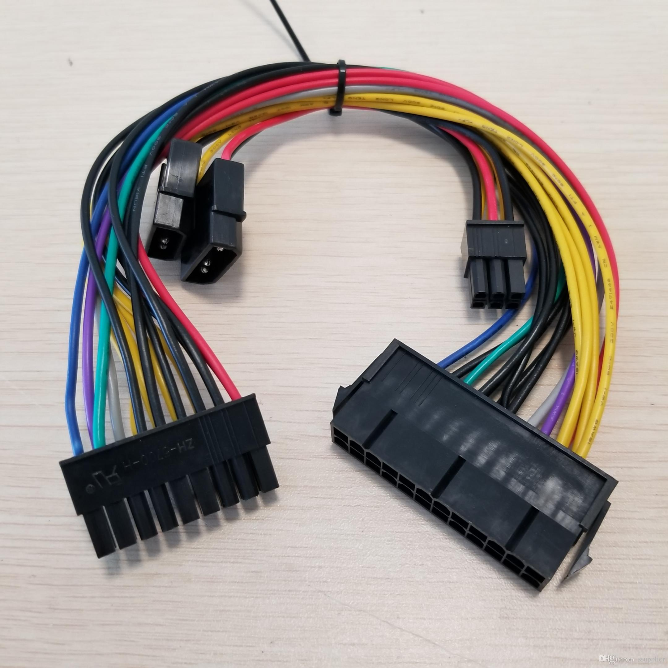 ATX 24Pin to 18Pin & Dual IDE Molex to 6Pin Converter Adapter Power Cable  Cord for HP Z600 Workstation Server 18AWG
