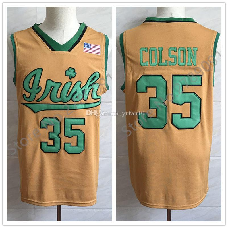 sale retailer f75fa 55f53 #35 Bonzie Colson Notre Dame Fighting Irish College Retro Classic  Basketball Jersey Mens Stitched Custom any Number and name Jerseys