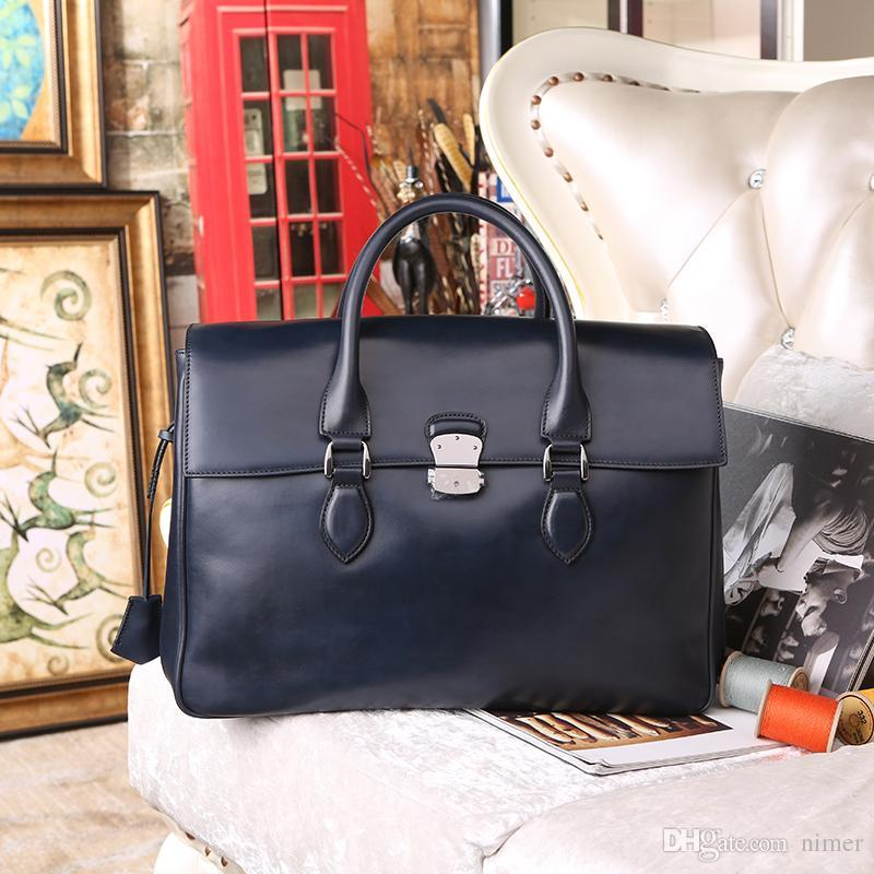 Wholesale E Mio Leather Men Business Briefcase Handmade Venezin Cow Leather  Handbag Shoulder Bag Italian Laptop Bag Dropshipping Handma Rolling  Briefcase ... a2b75dccd0