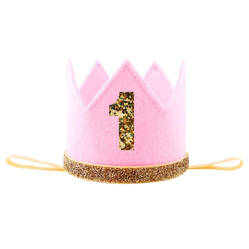 2018 New Baby Princess 1st One 2nd Three Year Old Number Crown Headband Birthday Hat Headwear Halloween Party Favor Gift Personalized Playing Cards Wedding