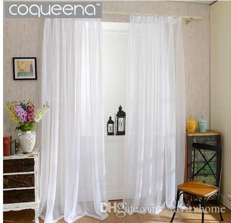 Acquista Cheap Plain White Sheer Tende Cucina Soggiorno Camera Da ...