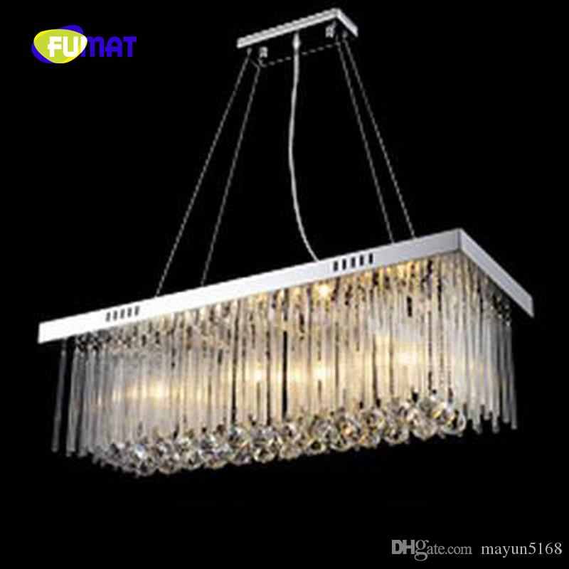 Luxury rectangular k9 crystal stainess steel chandelier led dinning luxury rectangular k9 crystal stainess steel chandelier led dinning room light fixtures length 80cm modern pendant lights 100 guarantee industrial pendant aloadofball Choice Image