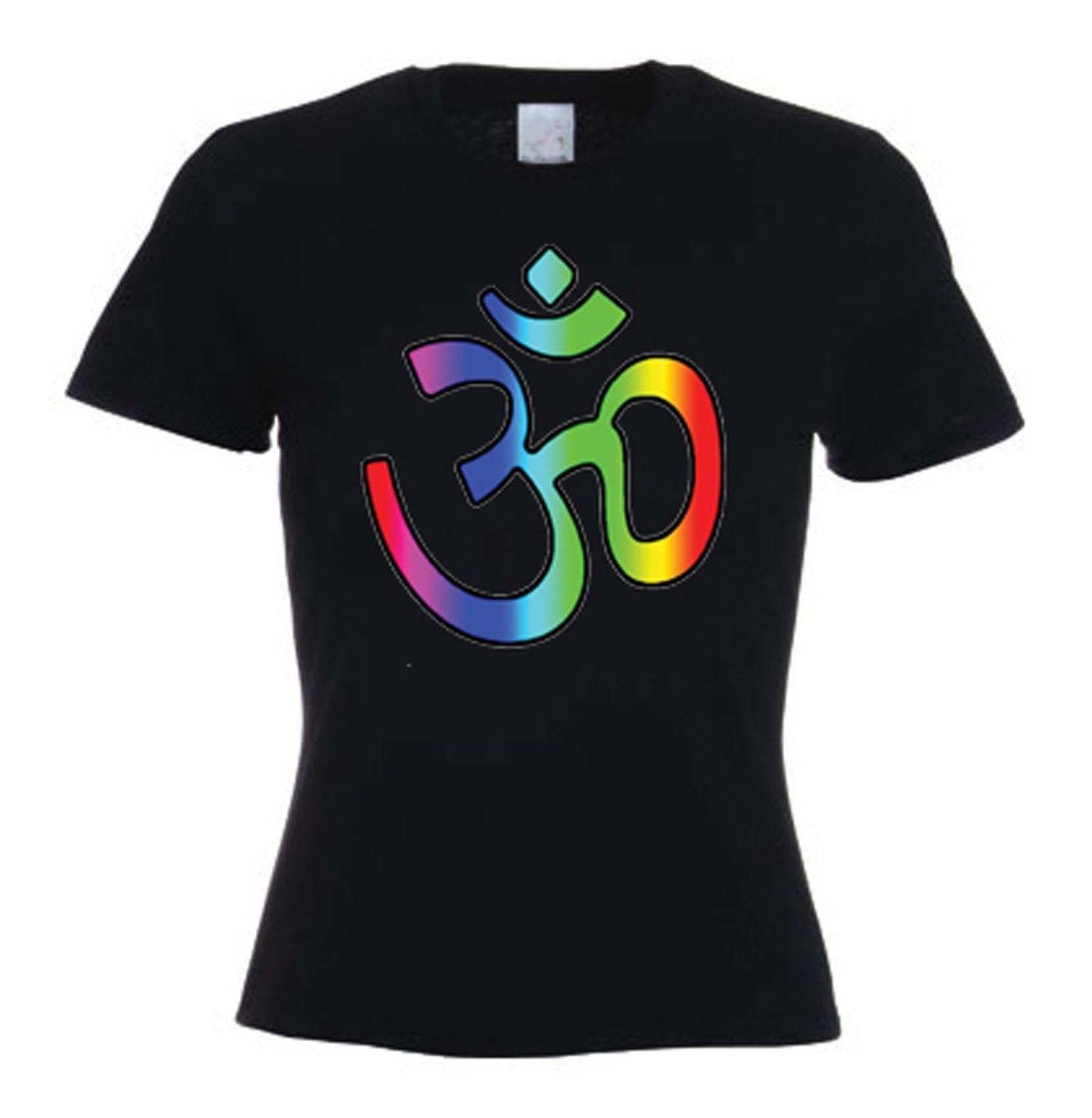 203ef841e OM SYMBOL WOMEN'S T-SHIRT - Hindu Yoga Meditation Aum Hinduism -Choice Of  Colour