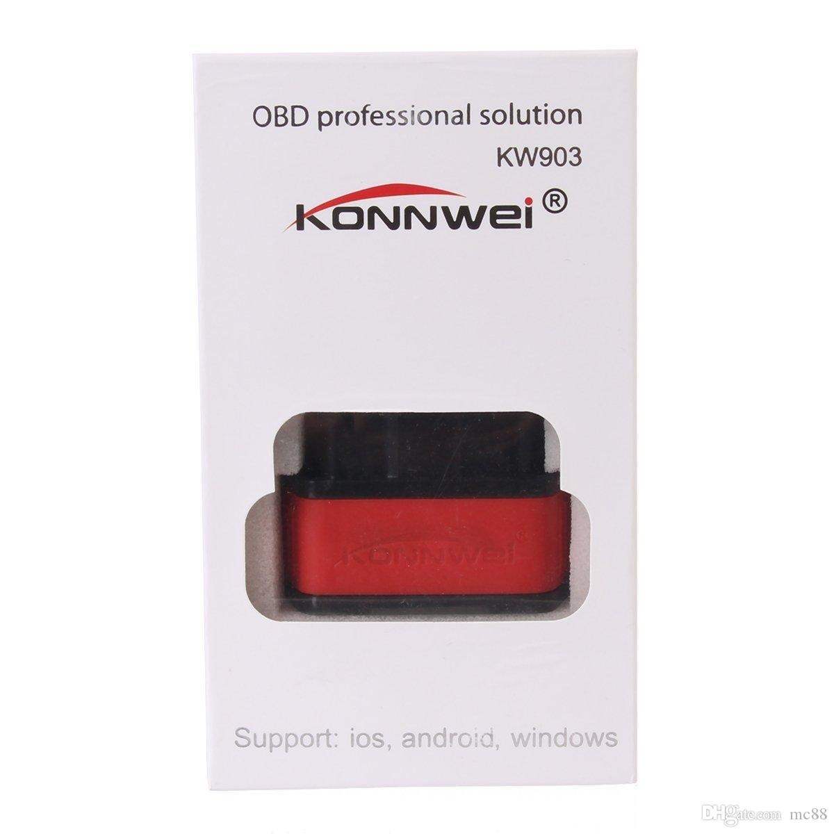 KW903 Mini Bluetooth 4.0 Wireless OBD-II Car Auto Diagnostic Scan Tools for Apple iOS Devices