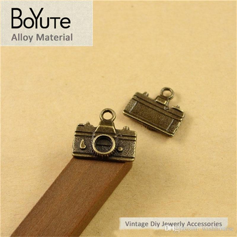 BoYuTe  16*14MM Vintage Camera Charms Antique Bronze Plated Zinc Alloy Diy Pendant Charms for Jewelry Making Accessories