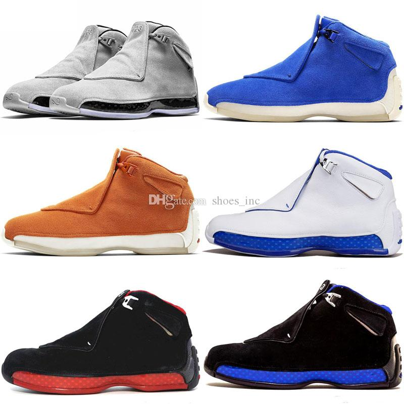 f346c5a1f7e7 2019 Men 18 18s Toro Basketball Sport Shoes Red Suede Yellow Orange Blue  Royal Cool Grey OG CDP Trainer Athletic Retro Sneakers 41 47 From  Shoes inc