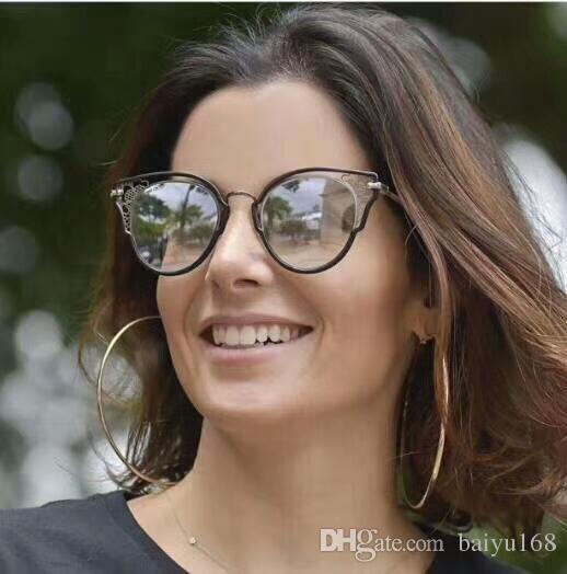 Las gafas de sol DHELIA / S Negro Oro gris sombreado 48mm gafas de moda gafas de sol gafas de nuevo con la caja