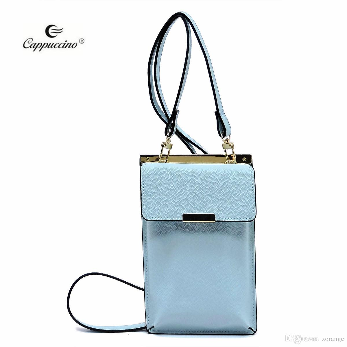 2018 Blue Fashion Alibaba China Supplier Cappuccino Guangzhou Ladies Flat  Cell Phone Purse Pouches For Girls Simple Discount Designer Handbags  Wholesale ... 82076b0b7e