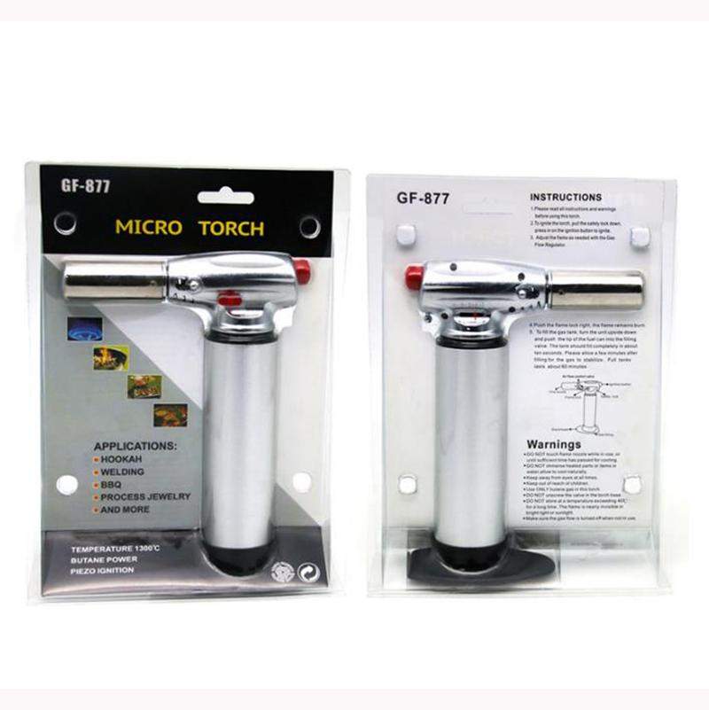 New Hot GF - 877 1300C gas Scorch torch jet flame lighter kitchen torch Giant Heavy Duty gas Refillable Micro Culinary Torch Self-igniting