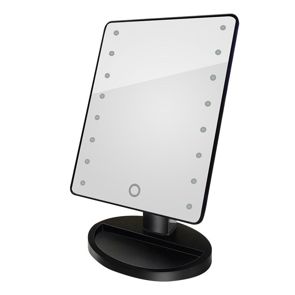 Cosmetic Makeup Mirror 16 Led Light Rotatable Touch Dimmable
