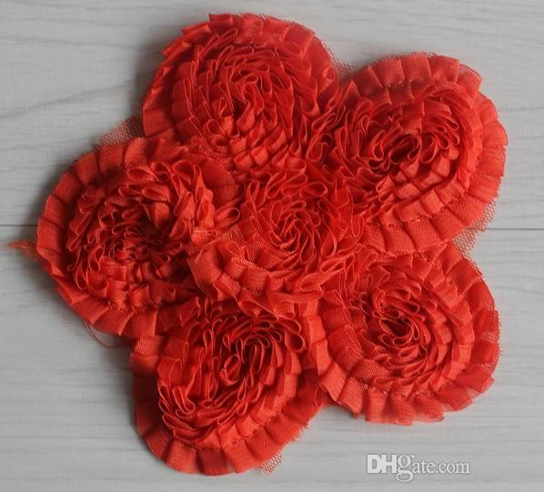5 inch chic multilayers chiffon rose sunflowers for girls diy t-shirts dresses clothing accessories