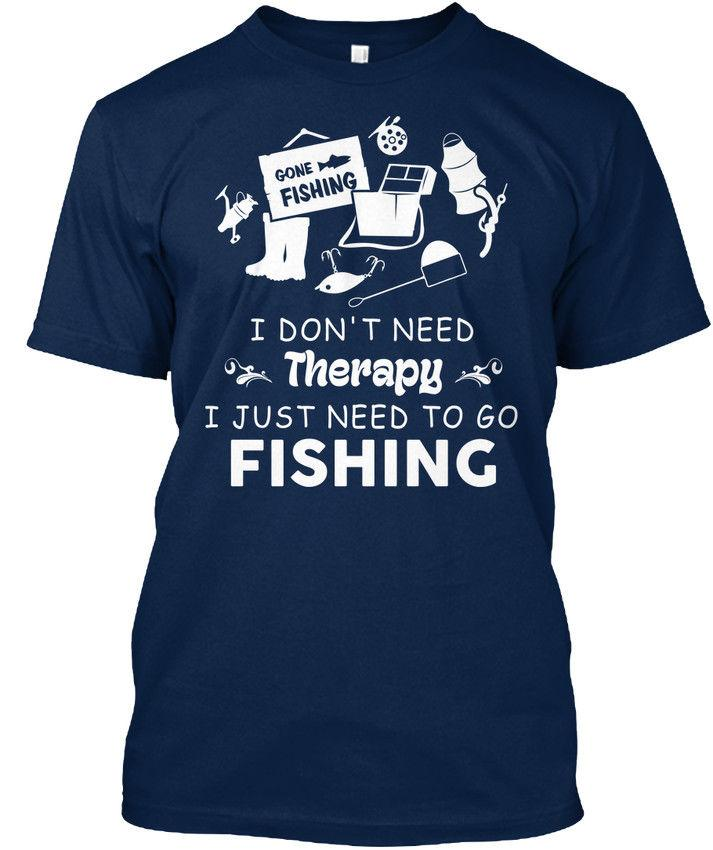 Supersoft Fishinger - Parti je n'ai pas besoin de thérapie Il suffit d'aller T-shirt Date 2018 Hommes T Shirt Mode Top Tee Normal