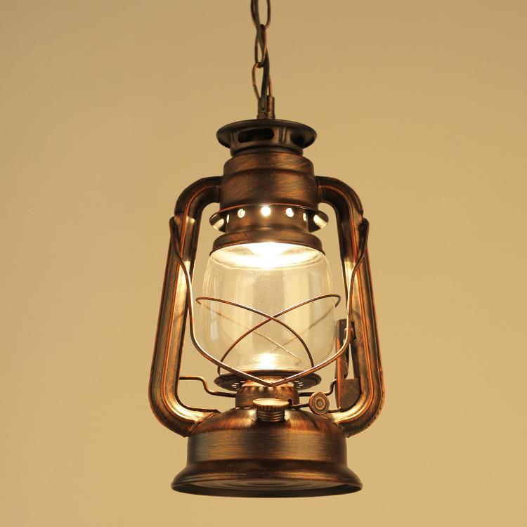Retro Lantern Pendant Lamps Outdoor Waterproof Antique Kerosene Lamp