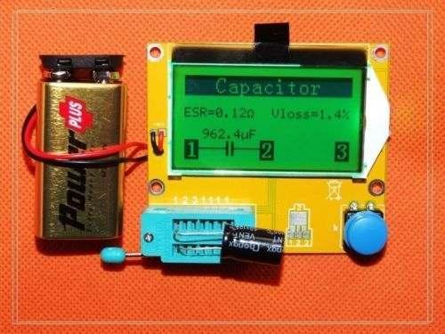 Freeshipping DIY kits Mega328 Transistor Tester Digital Combo Diode Triode  capacitor inductance resistor SCR LCR ESR Meter MOS/PNP/NPN