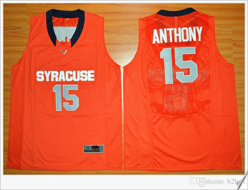 6c09d09dc35 ... wholesale 2018 ncaa syracuse college jerseys 7 carmelo anthony jersey  orange black white top quality stitched