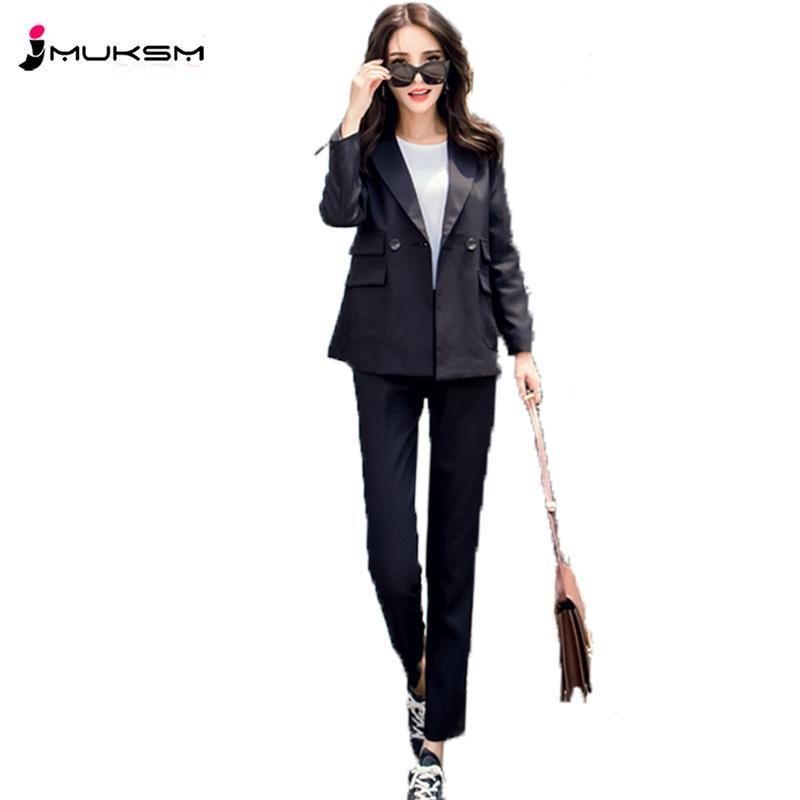 ce79889c10 2019 2018 Spring Ladies Suit Europe America Slim Small Suit Jacket Korean  Fashion Simple Comfortable Temperament Two Sets Women LWH30 From Baicao