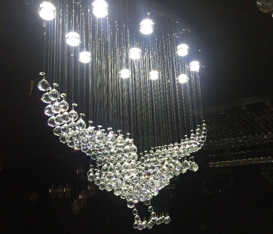 Oval design large crystal chandelier modern lighting ac110v 220v oval design large crystal chandelier modern lighting ac110v 220v luxury hotel lobby chandelier led light llfa victorian chandelier gothic chandelier from mozeypictures Images