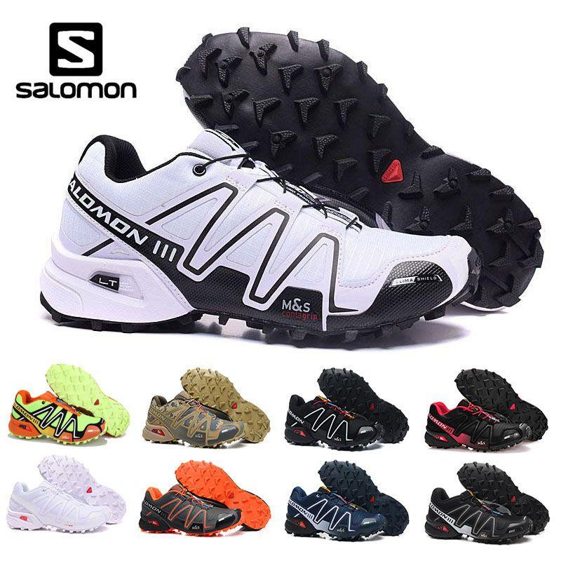 separation shoes 2909a 579be Compre High Top Salomon Mens Zapatos De Esgrima Speed Cross 3 CS III Luz  Blanca Criada Zapatillas Blancas Para Caminar Al Aire Libre Jogging Zapatos  Eur ...
