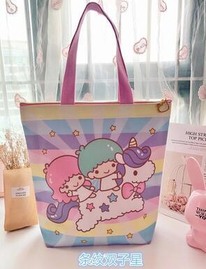 New Hello Kitty Little Twin Stars Duffy Ballet Rabbit Canvas Shopping Bag  Sac A Main Large Capacity Shoulder Women Bag Jute Bags Wholesale Fabric Gift  Bags ... d5cb730c4682e