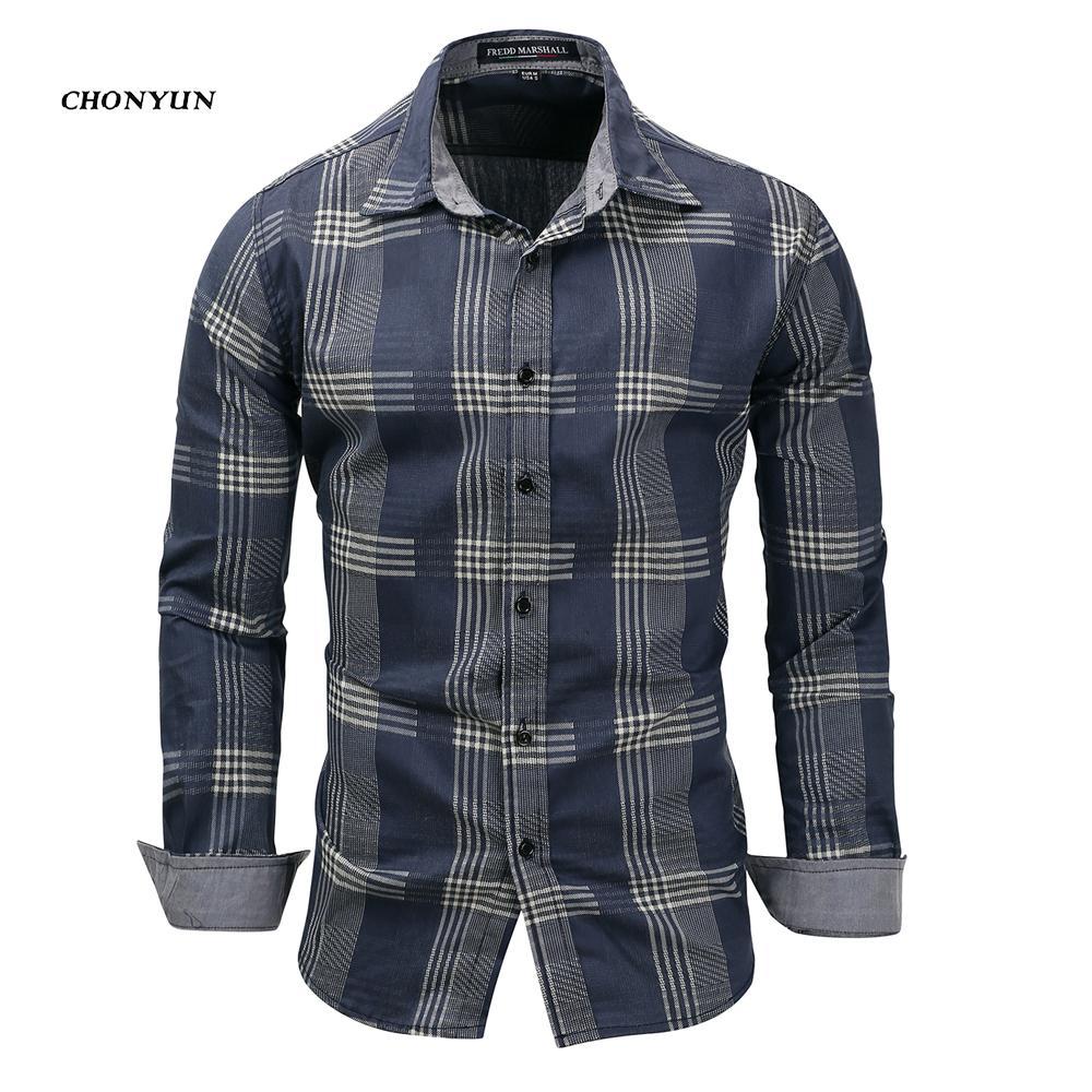 ea96a37de51 2019 New 2018 Men S Denim Long Sleeve Casual Shirt Brand Clothing Male Slim  Fit Shirts Denim Workwear Breathable Men Jeans Shirt 3XL From Rykeri
