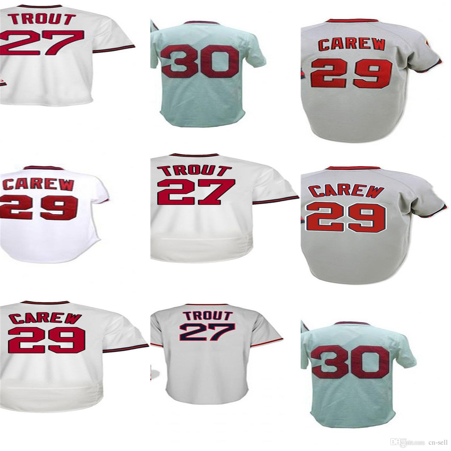 4789d98d05f ... real los angeles 29 rod carew 27 trout 30 nolan ryan women youth mens  toddler turn
