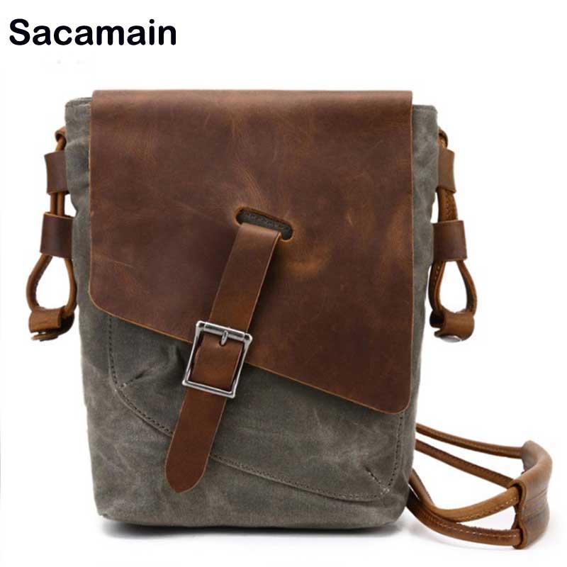 63b166cc8536 Daily Use Vintage Men Crossbody Bags 2018 Genuine Leather Horse Leather  Casual Crossbody Bags For Men Shoulder Bag Messenger Shoulder Bags Leather  Bags From ...