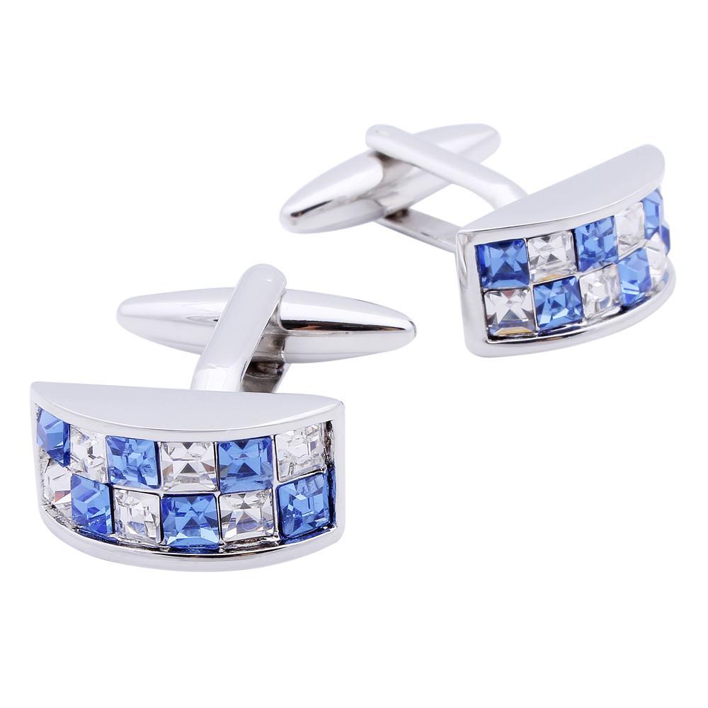 Hawson coloré boutons de manchette en cristal pour les hommes chemise blanche robe de mariée avec boîte
