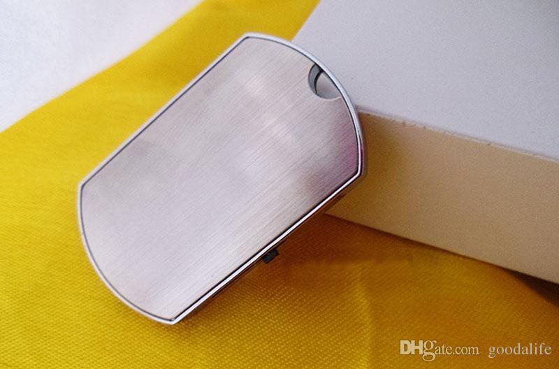 No Logo 4GB 8GB Metal Chest card USB Drives Brand New Capacity Enough U Disk USB2.0 Flash Drive Metal Necklace USB Memory Stick