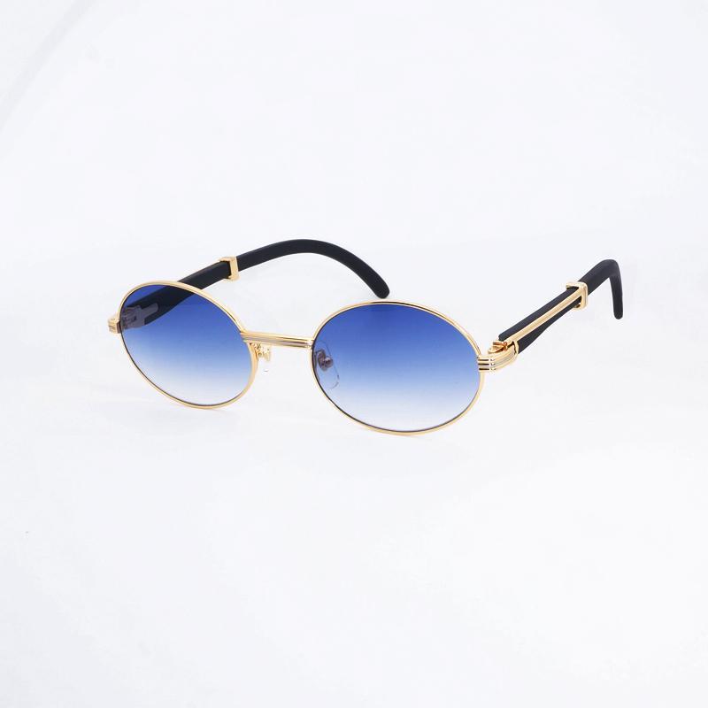 a7377257d36a6 Compre Óculos De Sol De Madeira Redonda De Luxo Homens Carter Óculos De Sol  Dos Homens De Leitura Clara Óculos De Armação Óculos De Graffiti Retro  Óculos De ...