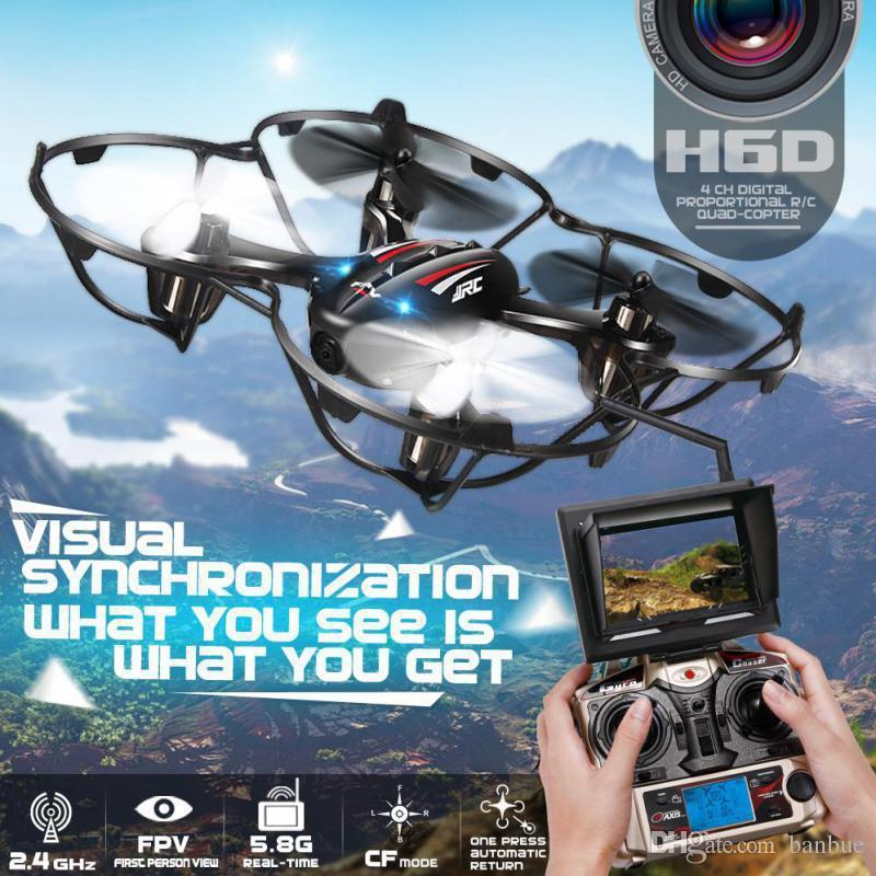 Quadcopters H6D FPV Mini Drones With Camera Hd With Camera Flying Helicopter Professional Drones JJRC Rc Toys Dron Copter