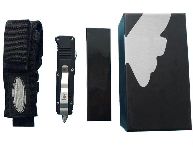 고품질! Benchmad BM C07 미니 듀얼 액션 탄토 드롭 D / E 블레이드 사냥 포켓 나이프 생존 칼 남성용 남성용 크리스마스 선물