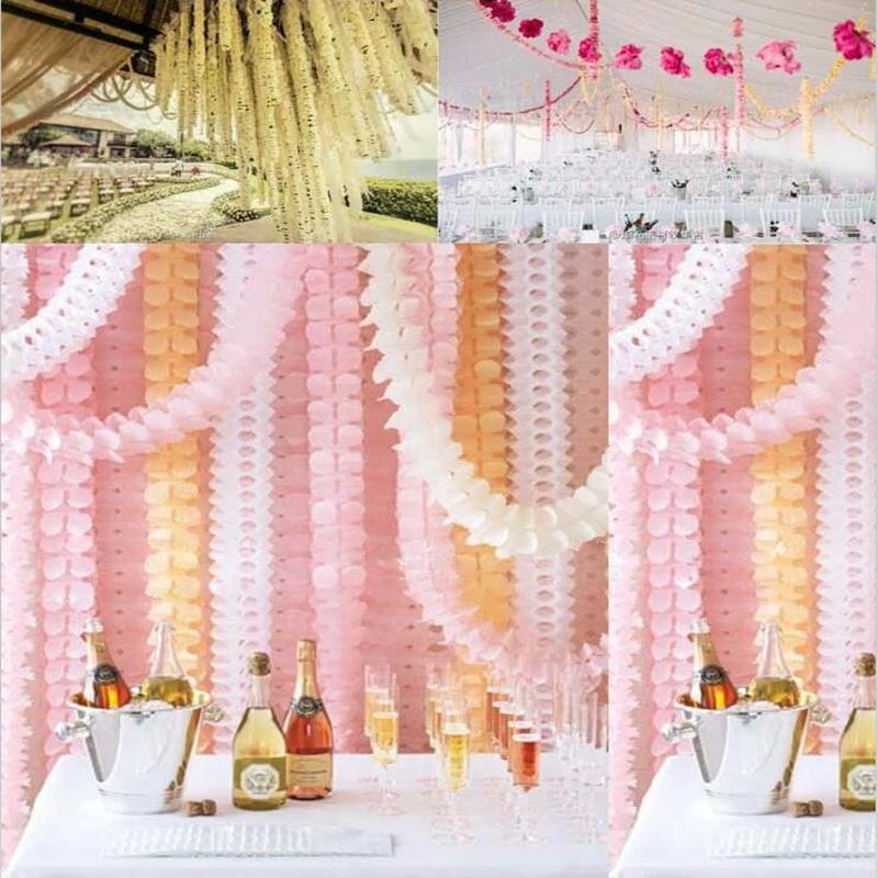 3 6m Garlands Clover Paper Garlands Birthday Curtain Marriage Party
