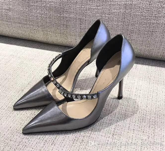 474dc5a2ef International Brands Supplier High End Custom Set Auger Fashion Casual  Temperament Elegant High Heels Shoes Heel Height 10 Cm Wholesale Shoes  Black Shoes ...