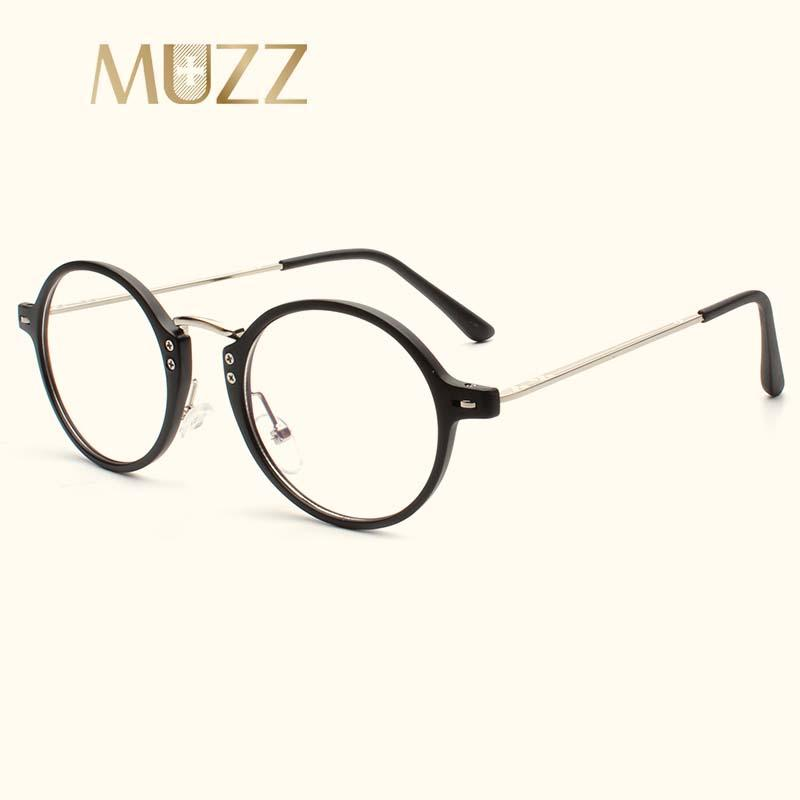 a9354bd290 2019 MUZZ Women Men Myopia Clear Lens Prescription Optical Glasses Frame  High Quality Frames Round Imitation Wood Eyewear From Fashionkiss