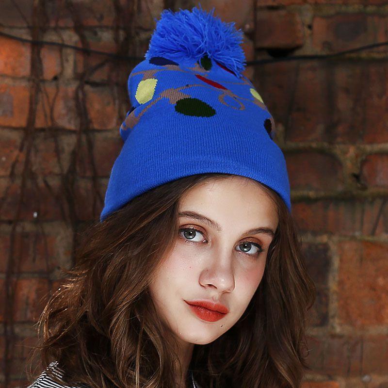 eae1802007e Fashion 2018 New Women Beanie Autumn Winter Knitted Skull Caps Weave ...