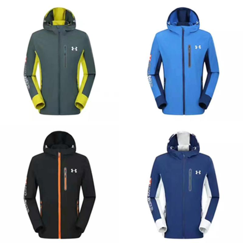 97b4e25bea7 Mens UA Jacket Autumn Spring Windrunner Quick Dry Thin Windbreaker ...