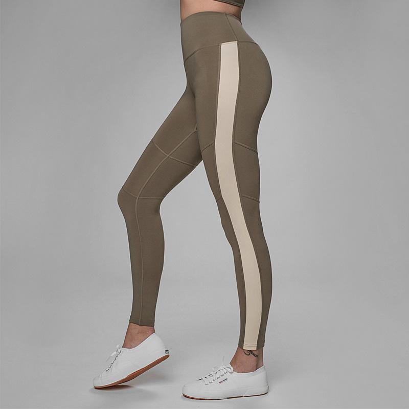 0506c8b4b9ee 2019 Striped Sport Leggings Fitness Yoga Pants Women Leggins Gym Sports  Clothing Running Tights Slim Pants Trousers Ladies ZC008 From Ekuanfeng, ...