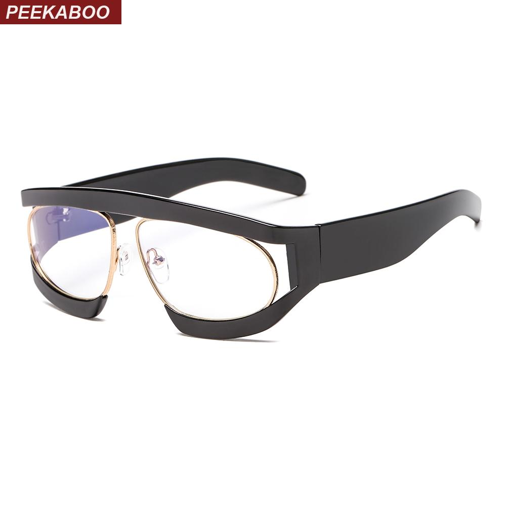 Compre Peekaboo Gafas De Lente Transparente Mujer Moda 2018 Leopardo ...