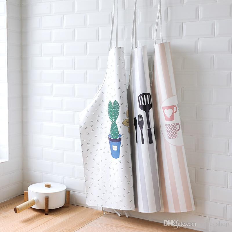Creative Apron For Women Nordic Pu Apron Korean Style Trendy Aprons Interesting Bakery Kitchen Design Style